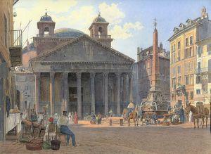 640px-Jakob_Alt_-_Das_Pantheon_und_die_Piazza_della_Rotonda_in_Rom_-_1836